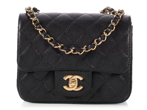 Chanel Mini Black Quilted Caviar Classic