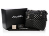 Chanel Large Black Chevron Quilted Lambskin Tote