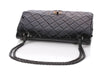 Chanel So Black Quilted Patent Reissue 227 Double Flap