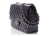 Chanel Jumbo Plum Patent Classic Single Flap