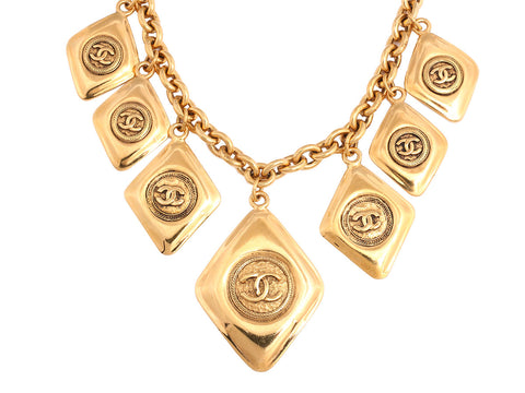 Chanel Vintage Logo Necklace