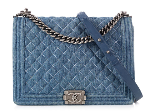 b21669ae86d4 Chanel Large Denim Boy Bag
