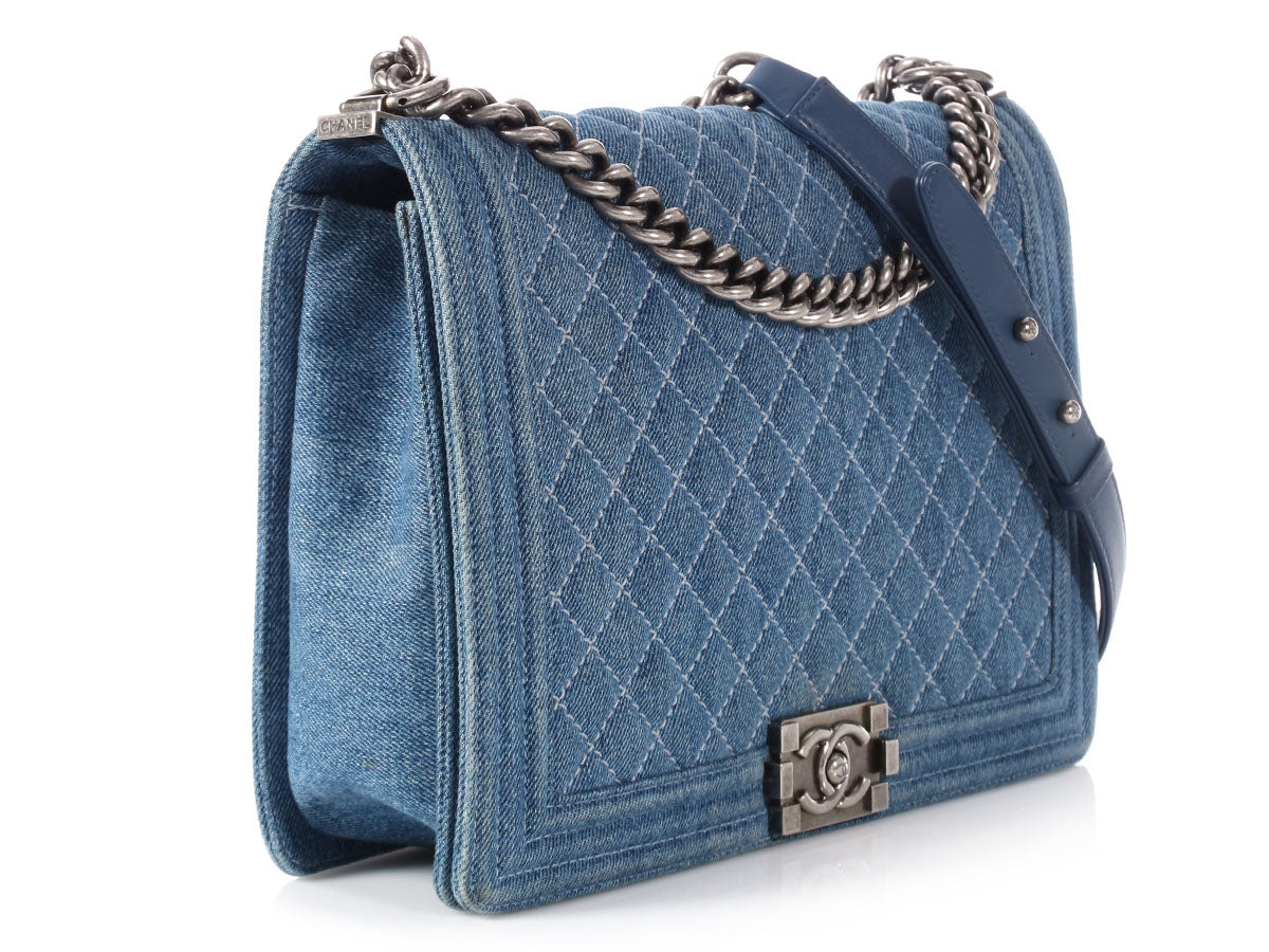 7d2886d3a660 Chanel Large Denim Boy Bag
