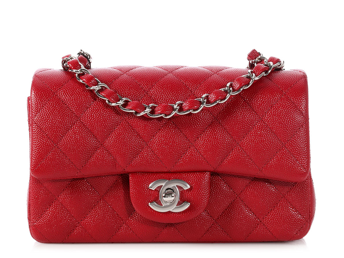 377008f319eb0 Chanel Dark Red Quilted Caviar Mini Classic