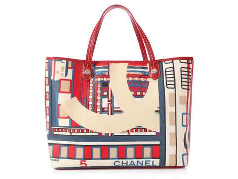 Chanel Coated Canvas Le Train Tote