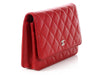 Chanel Red Quilted Caviar Timeless Wallet on a Chain WOC