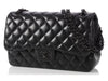 Chanel Jumbo So Black Quilted Lambskin Classic Double Flap