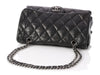 Chanel Black Soft Skin Three-Compartment Flap Bag