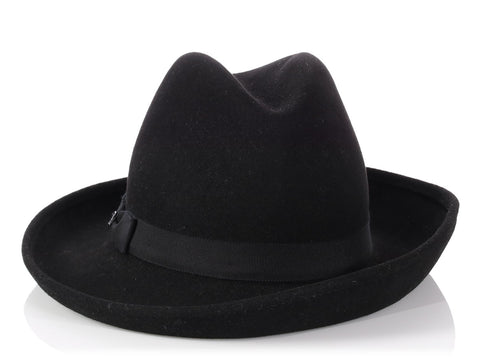 Chanel Black Fedora