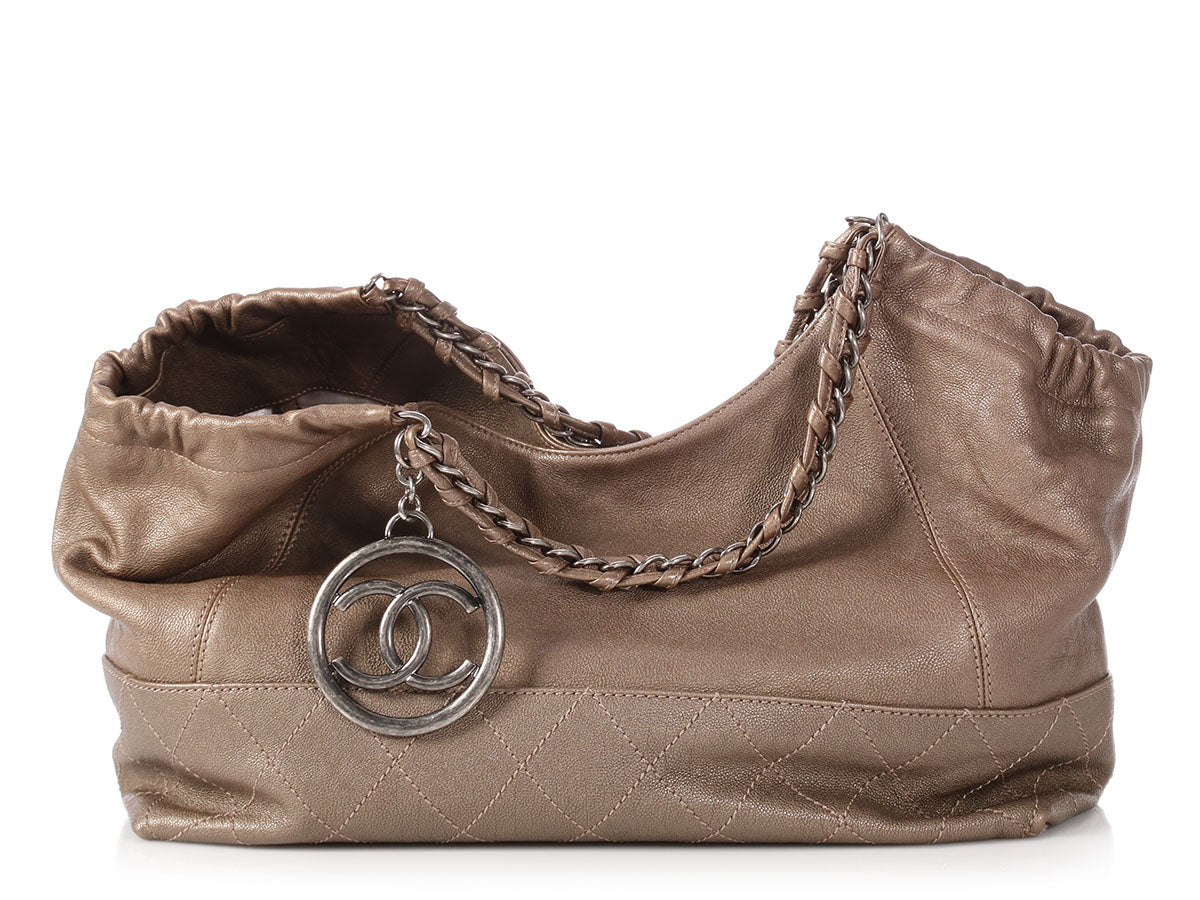 Chanel Argent Foncé Quilted Calfskin Baby Coco Cabas