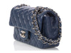 Chanel Navy Puffy Quilted Caviar Mini Classic