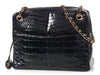 Chanel Vintage Black Shiny Alligator Camera Bag