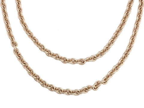 Chanel Gold Logo Layered Necklace