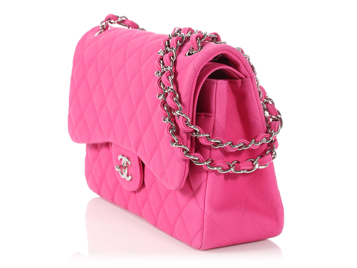 64aee145fda0 Chanel Jumbo Pink Quilted Matte Caviar Classic Double Flap