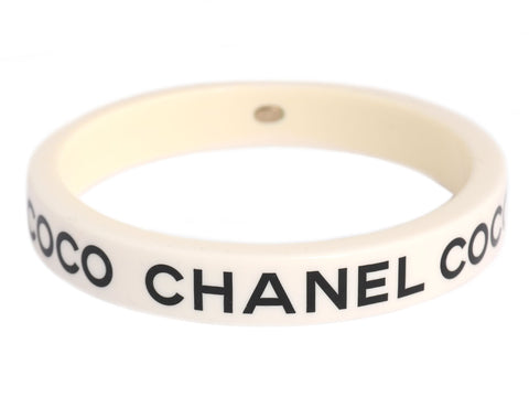 Chanel White and Black COCO Bracelet