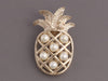 Chanel Pearl Pineapple Logo Pin