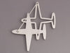 Chanel Crystal Airplanes Pin