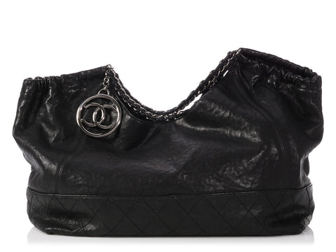Chanel Extra Large Black Calfskin Coco Cabas