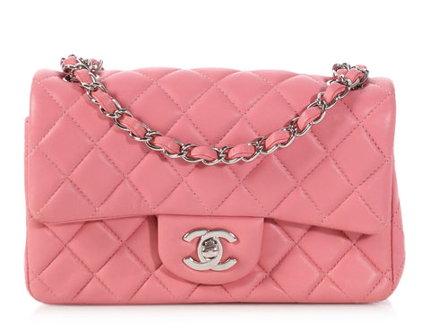 Chanel Pink Quilted Lambskin Mini Classic