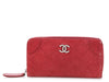 Chanel Long Red Quilted Outdoor Ligne Wallet