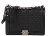 Chanel Extra Large Black Quilted Caviar Boy