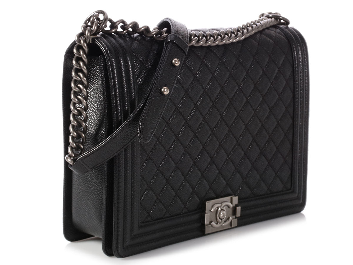 On Sale through Sunday ~ Time to Strut Into Spring! Check out our special  collection · Chanel Extra Large Black Quilted Caviar Boy c71bb7c36e4aa
