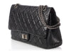Chanel Black Quilted Distressed Calfskin Reissue 227 Double Flap