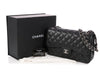 Chanel Jumbo Black Quilted Caviar Classic Double Flap