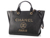 Chanel Medium Black Calfskin Studded Deauville Shopping Tote