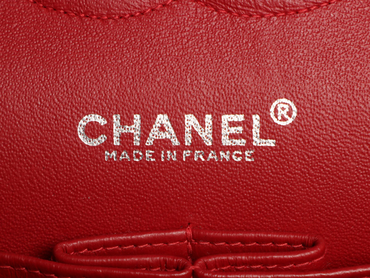 57ccec3cc4e7 Chanel Medium/Large Red Jersey Classic Double Flap