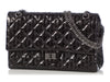 Chanel Black Striped Rayures Reissue 226 Double Flap