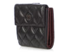 Chanel Black Quilted Lambskin Compact Wallet