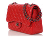 Chanel Jumbo Red Quilted Caviar Classic Double Flap