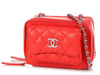 Chanel Mini Red Quilted Lambskin Crossbody