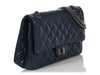 Chanel Blue Quilted Lambskin Reissue 227 Classic Double Flap