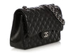 Chanel Jumbo Black Quilted Lambskin Classic Double Flap