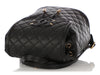 Chanel Black Quilted Caviar CC Filigree Backpack