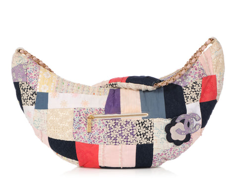 Chanel Large Patchwork Fabric Hobo