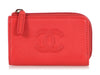 Chanel Small Red Calfskin O Key Case