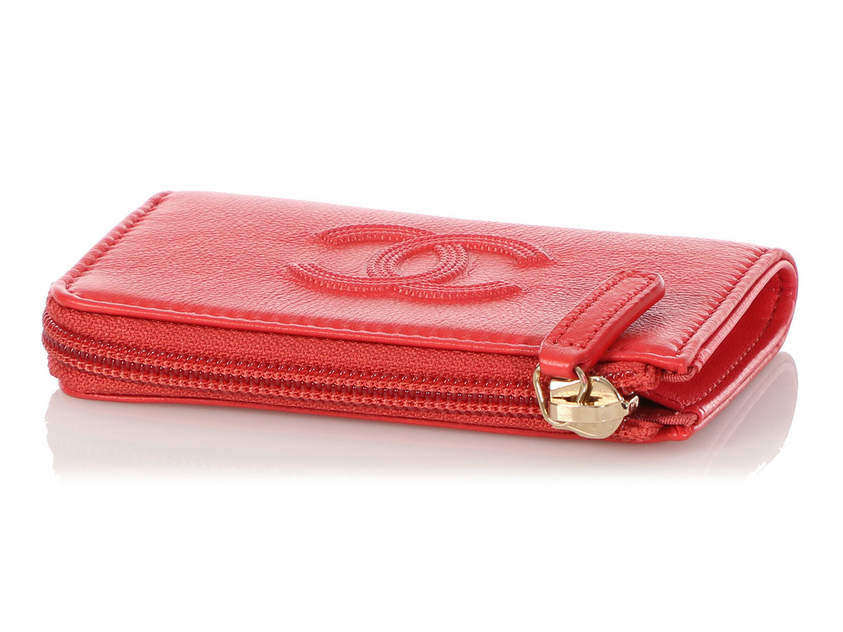 db476518809d Chanel Small Red Calfskin O Key Case