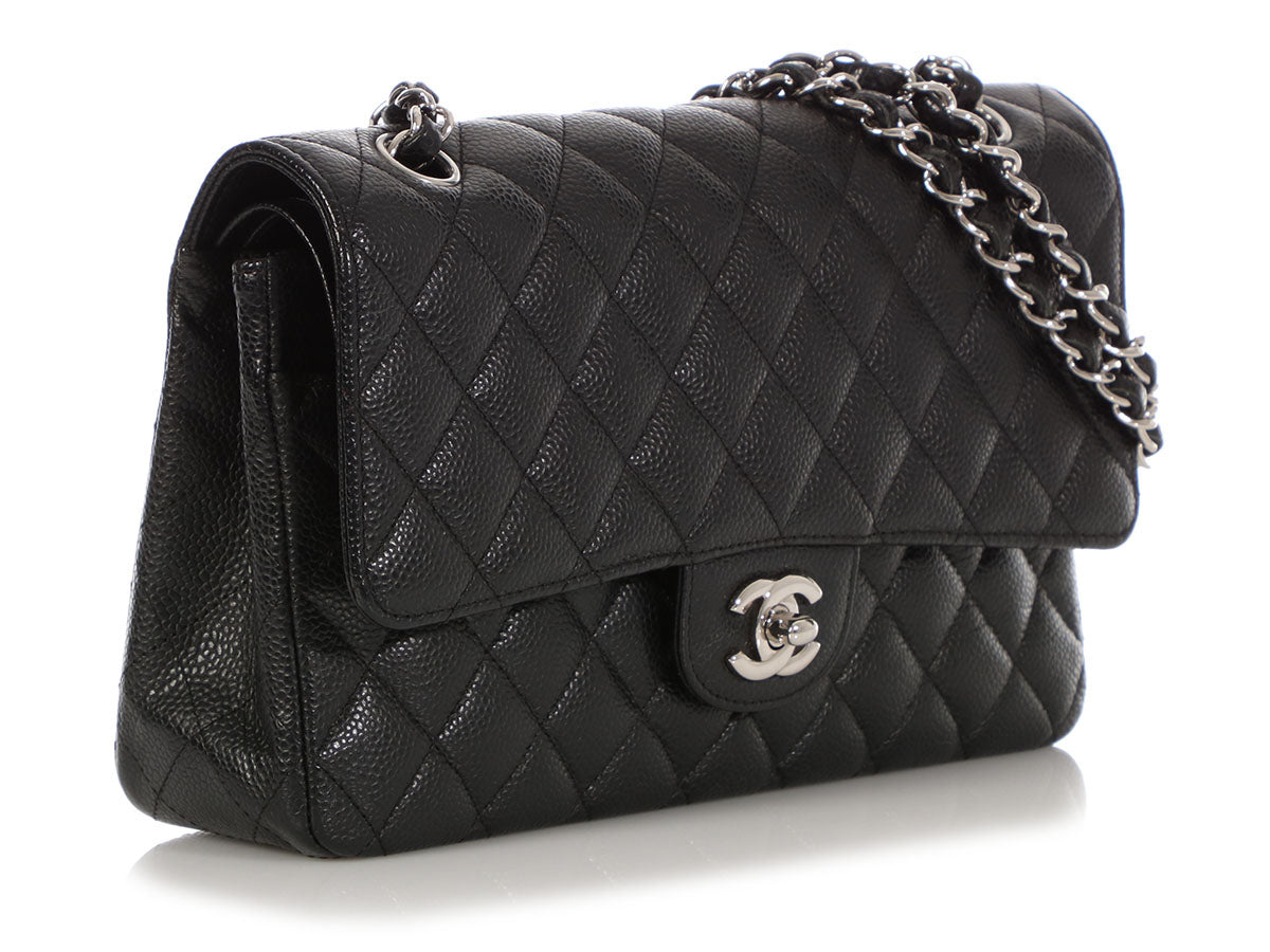 61620ff882fa Chanel Medium/Large Black Quilted Caviar Classic Double Flap