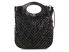 Chanel Large Black Distressed Calfskin 31 Shopping Tote