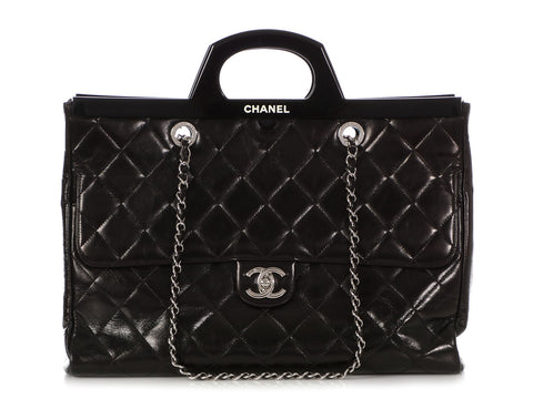 Chanel Large Black Quilted Calfskin Framed Bag