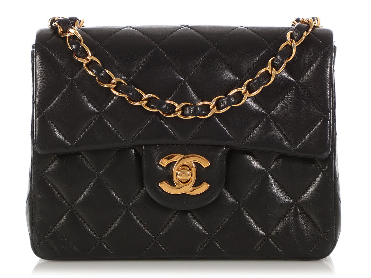 6171118f3bcc Chanel Mini Black Quilted Lambskin Classic