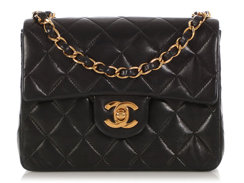 c287286f10f6 Chanel Mini Black Quilted Lambskin Classic