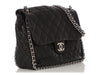 Chanel Black Quilted Distressed Calfskin Chain Around Flap