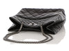 Chanel Black Quilted Distressed Aged Calfskin Reissue Tote