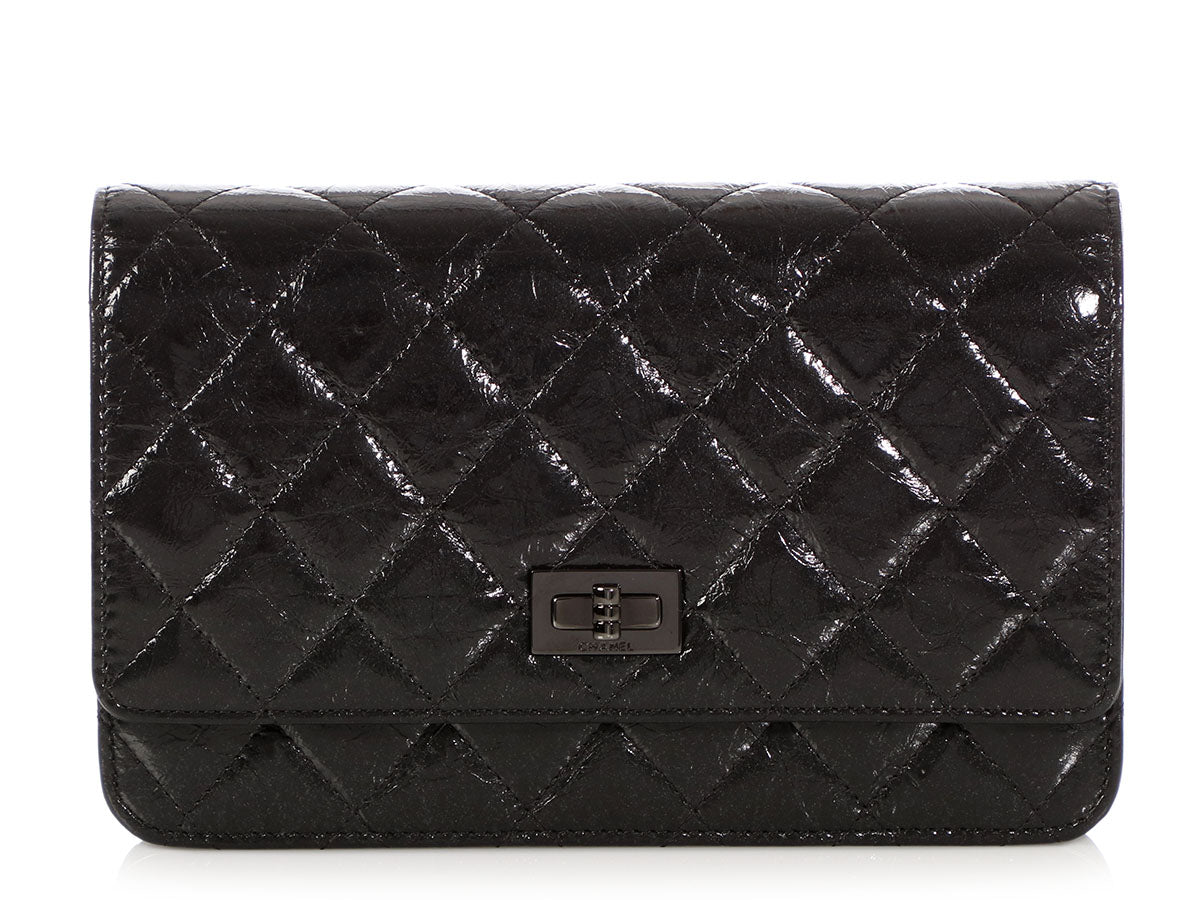 6030c6a799b6 Chanel So Black Quilted Aged Calfskin Reissue Wallet on a Chain WOC