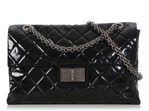 Chanel XXL Black Vinyl Reissue Weekender