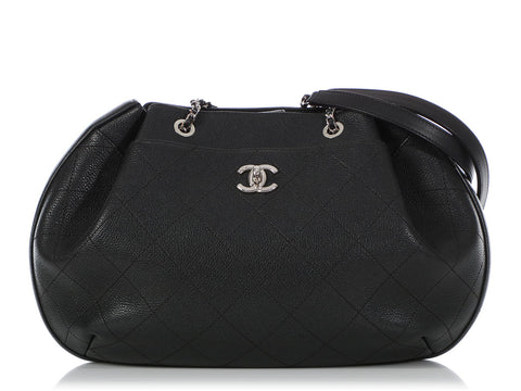 Chanel Black Quilted Caviar Shoulder Bag
